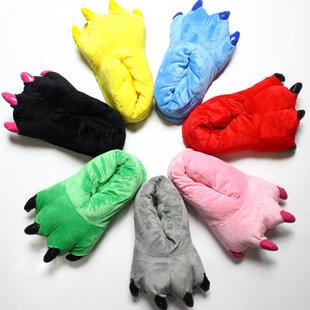 Подушечки обувь мужской и женщины оптовая торговля завод мультики коралл динозавр животное плюш домой обувной многоцветный взрыв моделей шов