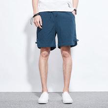 厂家直销夏季新品宽松男士休闲短裤批发 青年学生时尚亚麻五分裤