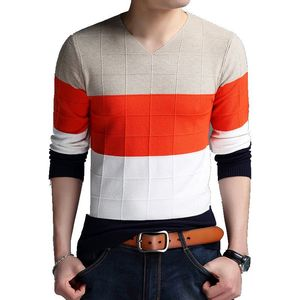 2017 young men fall fashion collar sweater size V color spun yarn leisure sweater wholesale