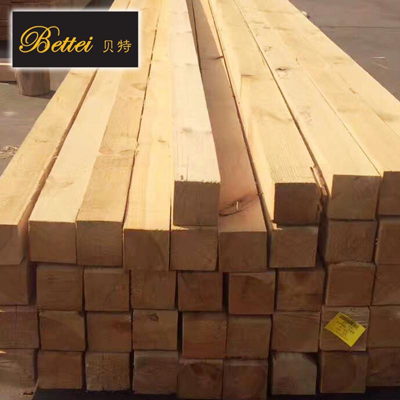 进口樟子松实木木方 俄罗斯烘干木方定制 高端免漆樟子松木材厂家