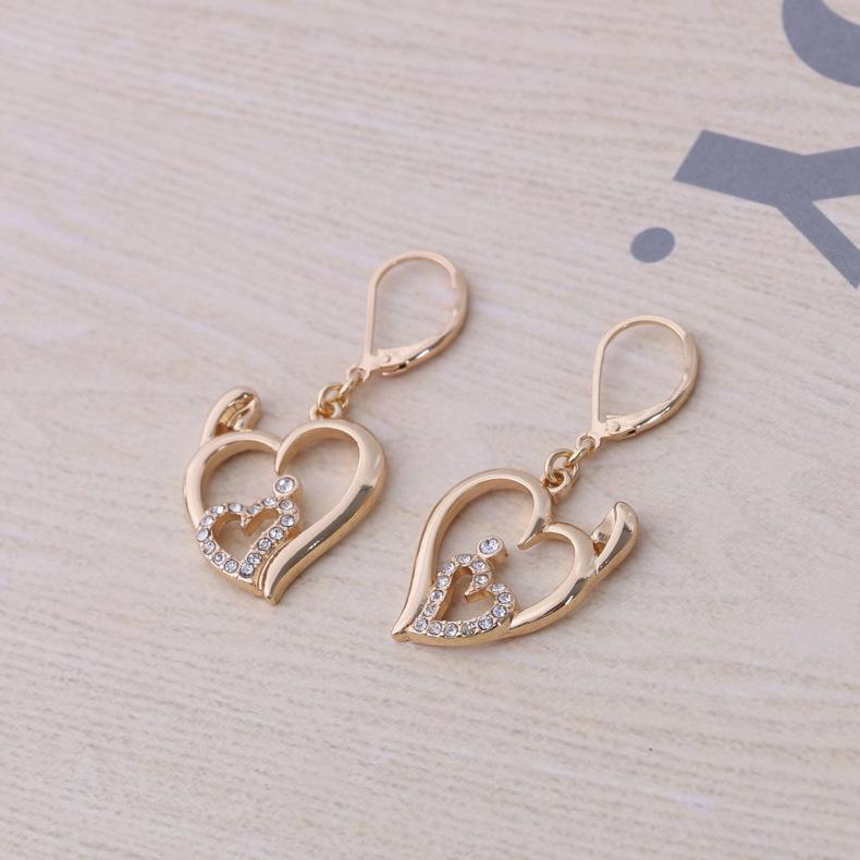 Fashion OL alloy plating earring (K gold)NHBJ0304-K gold
