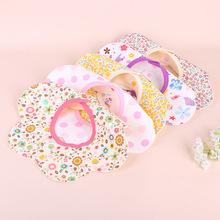 360口水巾旋转造型宝宝立体卡通婴儿围嘴两枚扣子组母婴用品批发