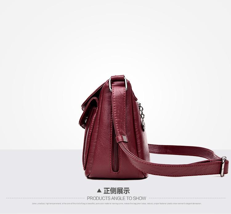 Korean version PUShoulder bag (Taro purple)NHPB0326-Taro purple