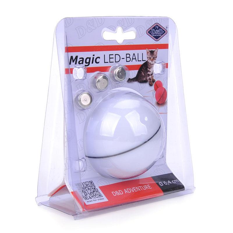 派拓厂家直销网红亚马逊貓玩具球LED激光宠物猫咪电动自动逗猫球
