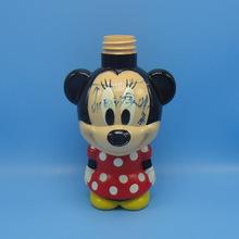 热销450ml米奇儿童公仔瓶pet卡通公仔塑料瓶 深圳吹塑瓶生产厂家