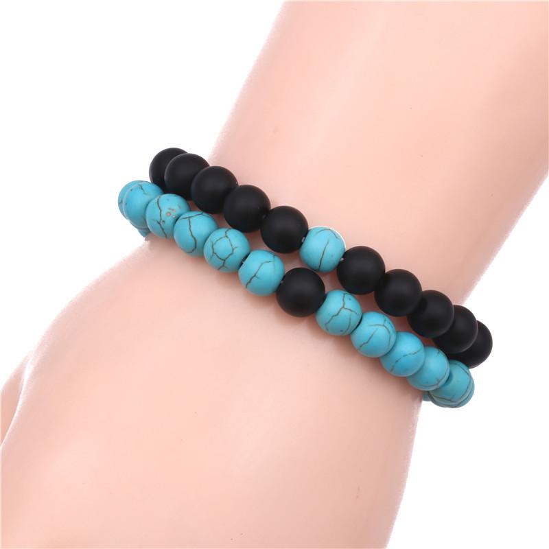 Natural Stone Fashion Flowers bracelet  green NHYL0403green
