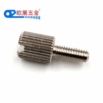 镀镍纹花调节螺丝6*13*M2 圆形黄铜手拧螺丝 一字槽黄铜螺丝