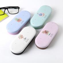 京尚日韩男女学生马口铁近视眼镜盒可爱便携墨镜太阳镜收纳盒送布