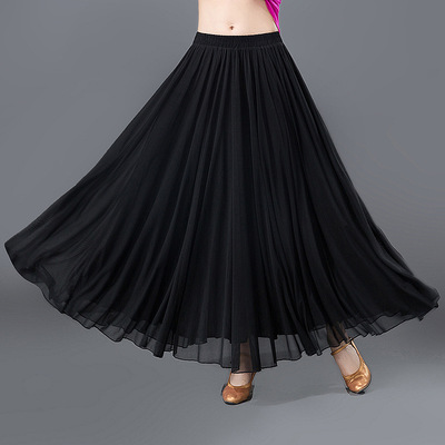Ballroom dance skirts for women modern dance skirt with half length and big swing skirts for female