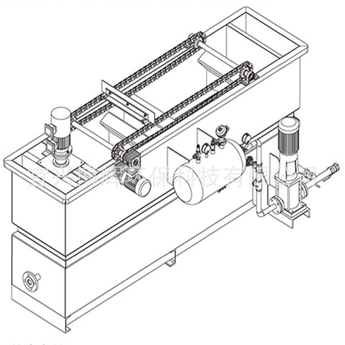 溶气气浮设备 气浮装置 印染厂废水气浮处理装置 不锈钢气浮机