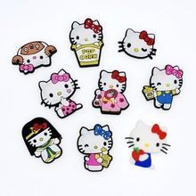 HelloKitty凱蒂貓KT貓冰箱貼胸針徽章發夾貼片DIY卡通飾品配件