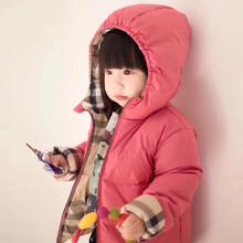 2019冬季新款双面穿白鸭绒面包服儿童羽绒服女童男童加厚外套
