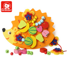 Te Baoer Hedgehog Rope Beaded Toy Baby Beaded Threading Board Child Early Learning Educational Toys