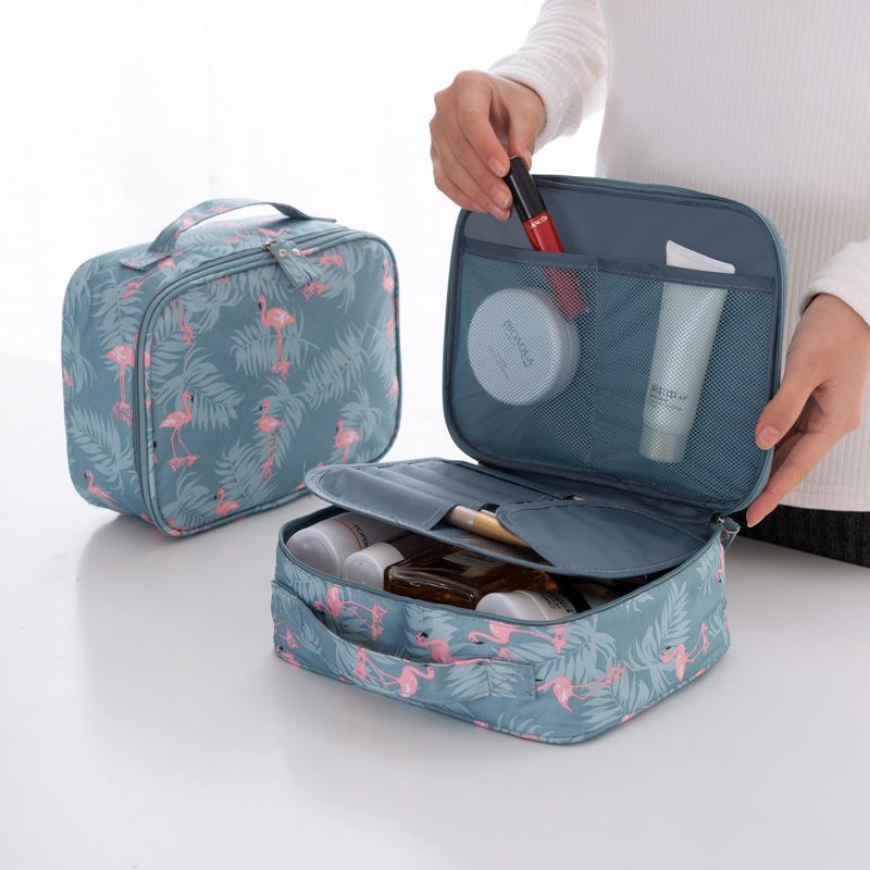 新款韩版多格旅行收纳包盒 源头工厂女士大号手提便携防水化妆包