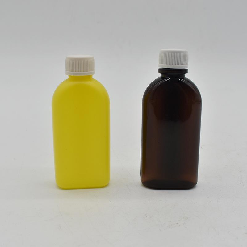 厂家直销 PET-PVC-30ML小扁瓶 一体吹塑塑料瓶 糖浆瓶