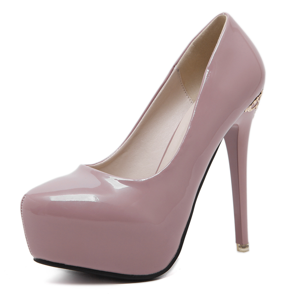 High heels with Platform, Nude shoes women's main photo