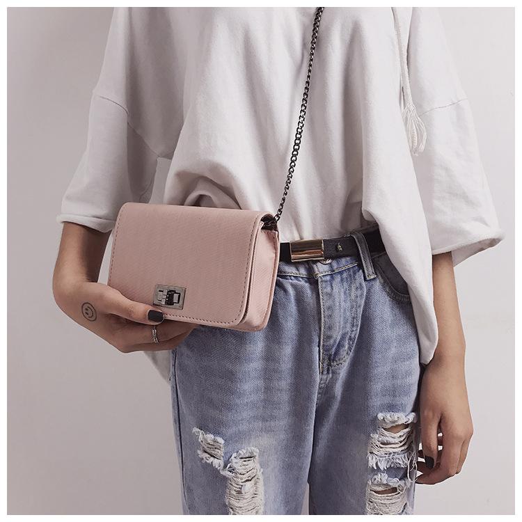 new fashion  fabric pattern turn lock small bag  NHRU269725