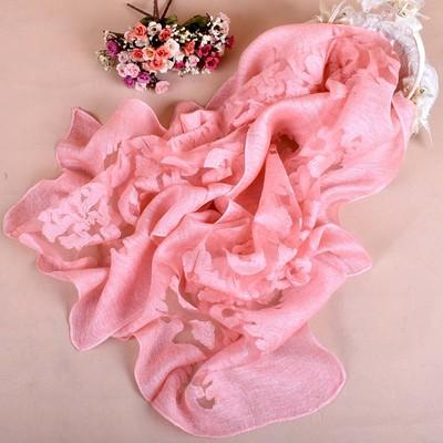 丝巾披肩 秋冬欧美时尚纯色蕾丝剪花围巾四季丝巾一件代发
