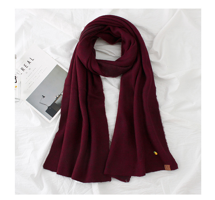 WoolenPolyester scarf (Dark red -200X40cm)NHNBS1800-Dark red -200X40cm