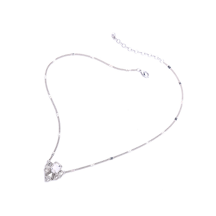 Occident and the United States alloy Diamond necklace NHQD4001