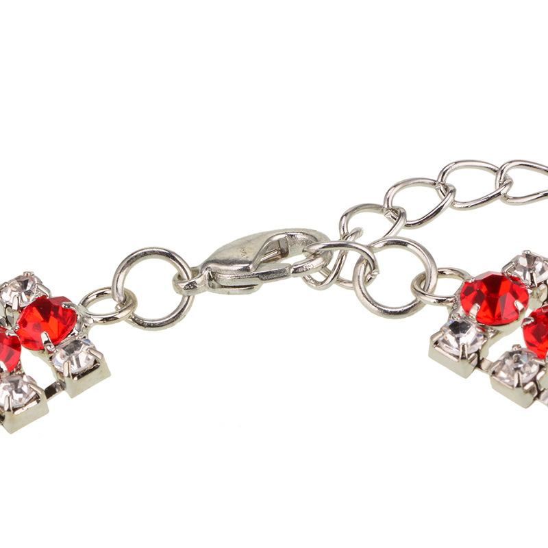 other alloy Diamond necklace (red)NHYT0540-red