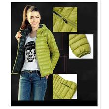 速卖通新款秋冬装女款 欧美长袖带帽薄款棉袄棉衣棉服短款外