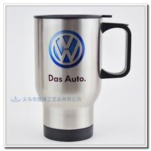 包郵汽車杯定制圖片LOGO不銹鋼車載杯涂層雙層杯熱轉印保溫杯定做