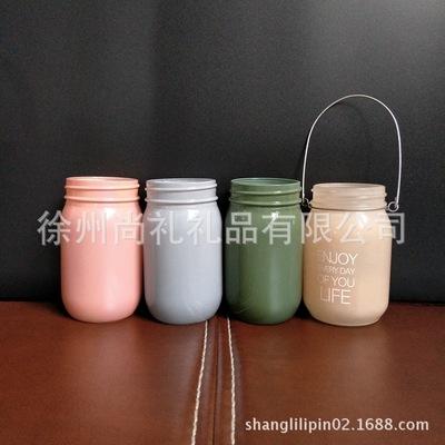 玻璃工艺太阳能灯瓶 梅森铁环灯饰工艺瓶 可加工定做
