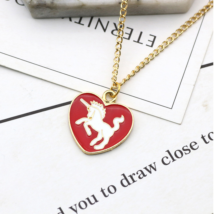 Other Alloy Dripping necklace Animal (red)NHSK0202-red