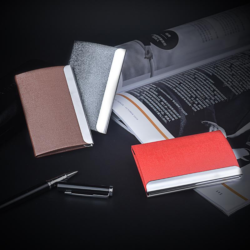 名片盒商务男士时尚 金属 男女士定制logo名片夹 广告赠品卡套