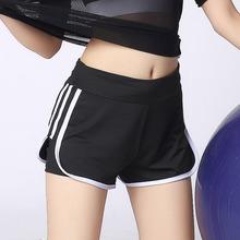 学院风假两件防走光运动短裤女速干宽松高弹健身裤跑步瑜伽三分裤