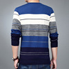 The autumn of 2017 middle-aged men T-shirt dyeing mercerized cotton sweater knit a wholesale fashion with Dad