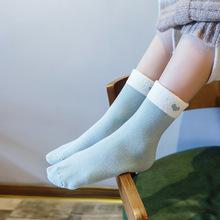 2017冬季羊羔絨松口加厚保暖孕婦產婦月子襪子 全棉毛圈加絨女襪