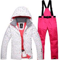 新款滑雪服套装女士户外单板双板滑雪衣裤套装防水保暖滑雪服