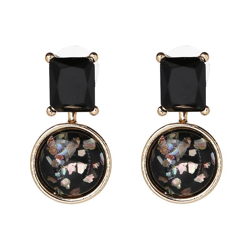 Imitated crystal&CZ Fashion Geometric earring  (red) NHJJ4336-red