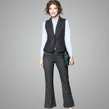 秋季劉濤同款時尚氣質干練大方西裝馬夾職業四件套套裝73522