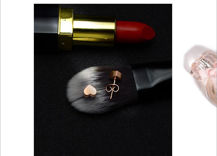 Titanium&Stainless Steel Korea Sweetheart earring  (Rose alloy) NHOK0108-Rose-alloy