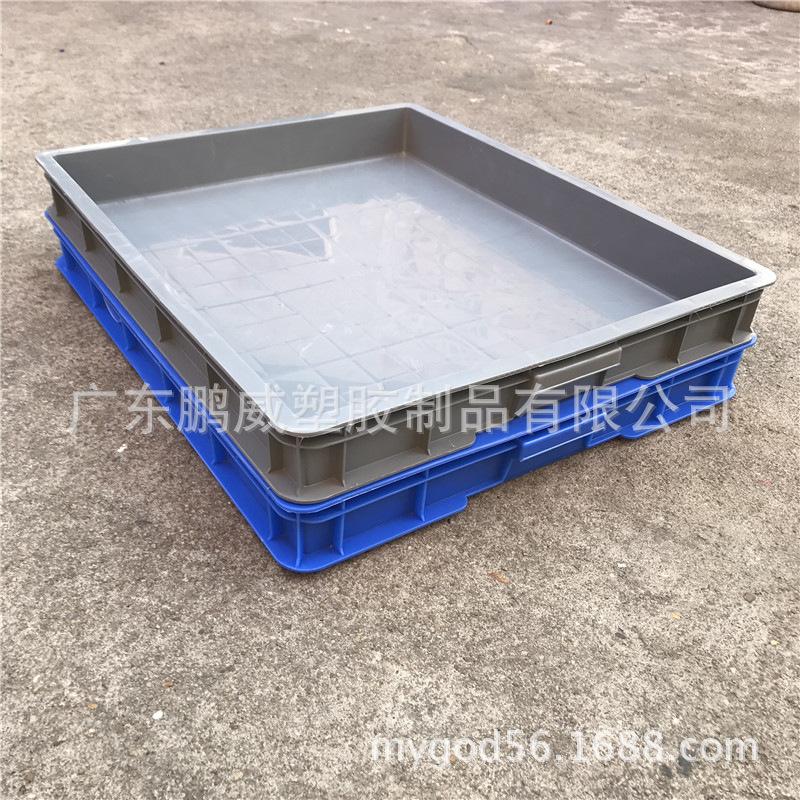 厂家直销贵州贵阳五金电子物料托盘 长方形塑料周转箱 大胶框