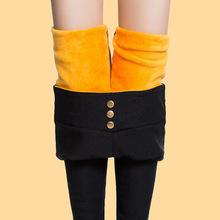 打底褲女高腰黑色秋冬季2017新款秋季小腳鉛筆冬褲子外穿加厚加絨