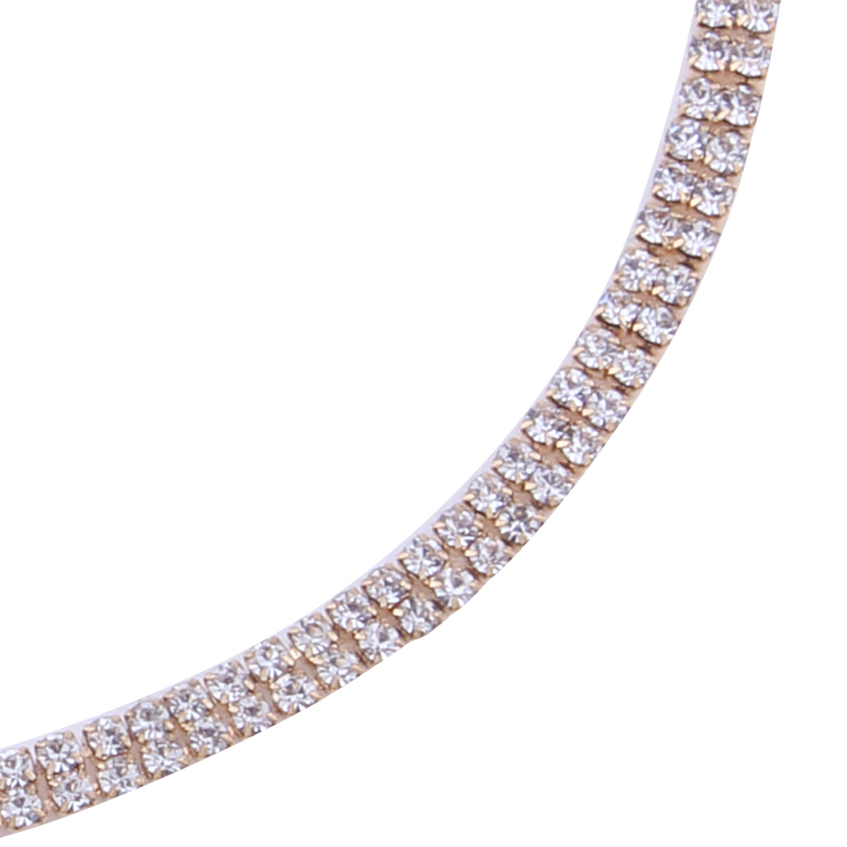 Occident and the United States alloy Diamond necklace (Gold)NHNMD3855-Gold