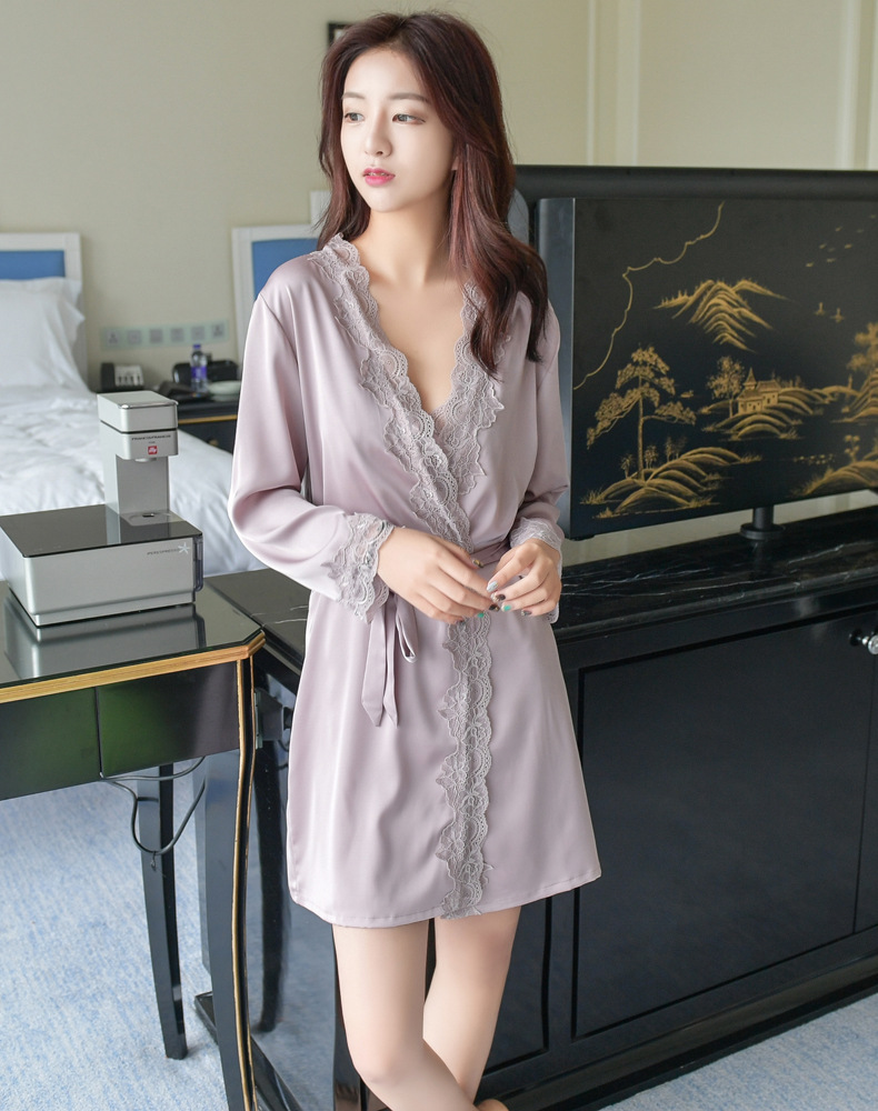 New fashion nightgown single bathrobe bathrobe wholesale NHMR204765