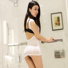 一件代发牛奶丝透明紧身包臀性感夜店桑拿酒吧透视超短齐屁连衣裙