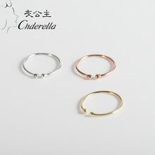 2018日韩风新款时尚s925纯银戒指女式开口潮流气质手指环简约戒指