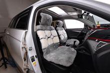 羊毛坐垫汽车坐垫冬季座垫短毛绒羊剪绒车垫纯羊毛皮毛一体座套