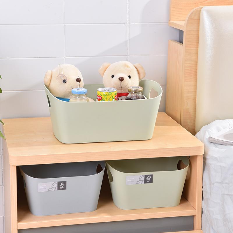 全国包邮厂家直销塑料杂物衣物收纳盒 玩具零食整理框厨房置物篮