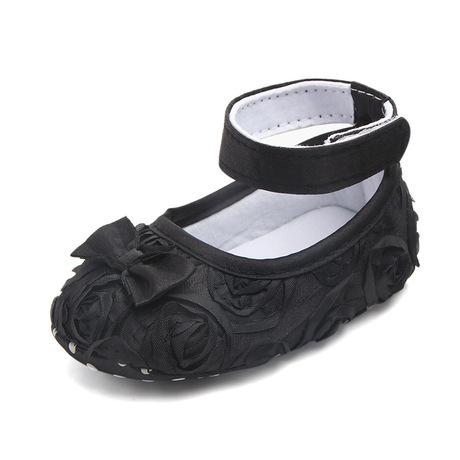 Ngoại thương cung cấp giày em bé Bán buôn Màu rắn hoa hồng Giày bé mới biết đi Giày công chúa 0050 Giày em bé