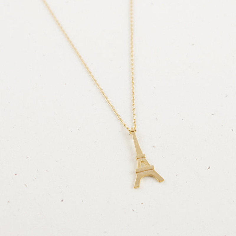 Paris Tower Women's Necklace Alloy Electroplated Three-dimensional Paris Tower Pendant Necklace NHCU186583