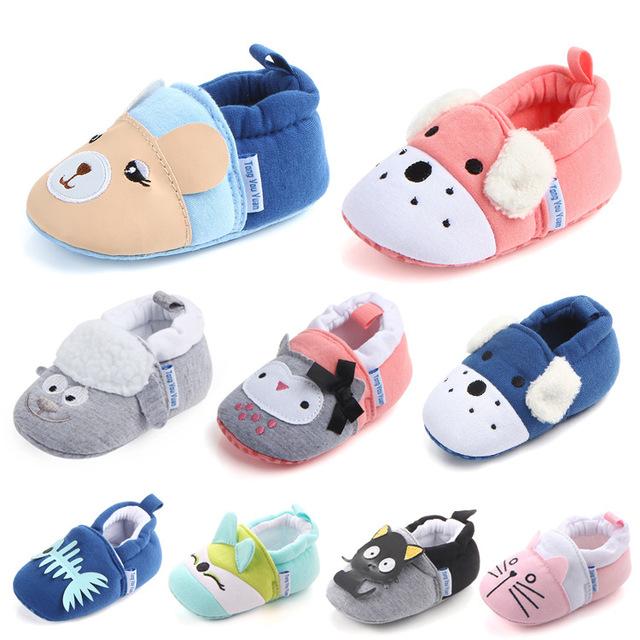 Mùa xuân và mùa thu mới bé dễ thương không thể đánh rơi giày ngoại thương mềm đế chống trượt cho bé mới biết đi Giày em bé