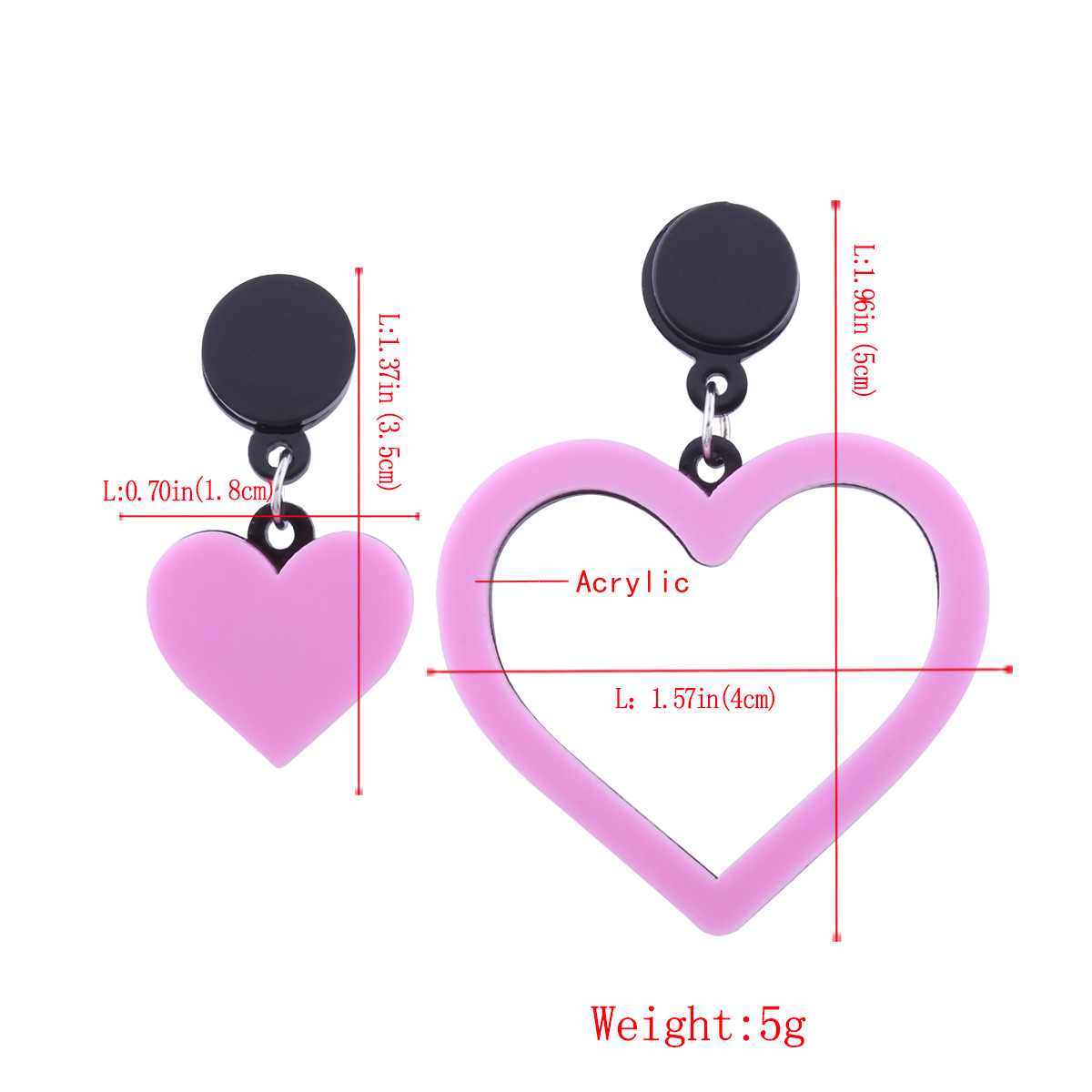 Simple alloy plating earring (Light powder)NHNMD3761-Light powder