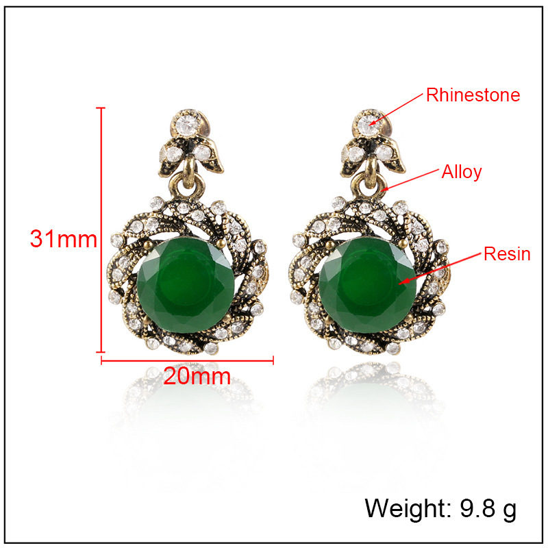 Fashion Alloy plating earring Geometric (Alloy red)  NHKQ1433-Alloy red